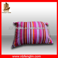 100%Cotton Pink Stripes Design Printed Cushion Cover Pillow Case