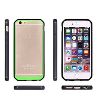 High Quality Cell Phone double color TPU + PC transparent Back Cover Case For iphone 6 6plus Quality Assured