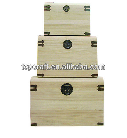 2013 solid natural material and recyclable chest one set with three different sizes for packing