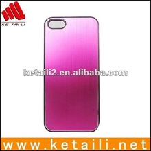 METAL Aluminum Wire Drawing Snap-On Hard Case Cover for iPhone 5
