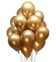 <strong>12</strong> Gold Metallic Latex Party Balloons Baby Shower Christmas Decorations balloon