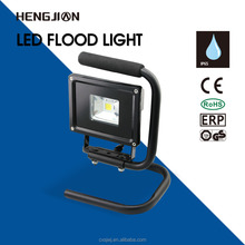 10W working led flood light with excellent stand
