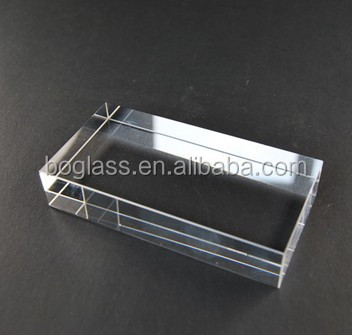 Colored Blank Crystal Cube, Colorful Optic Crystal Glass Block for Engraving Gifts