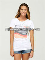fashion promotional 100% cotton women t shirt design