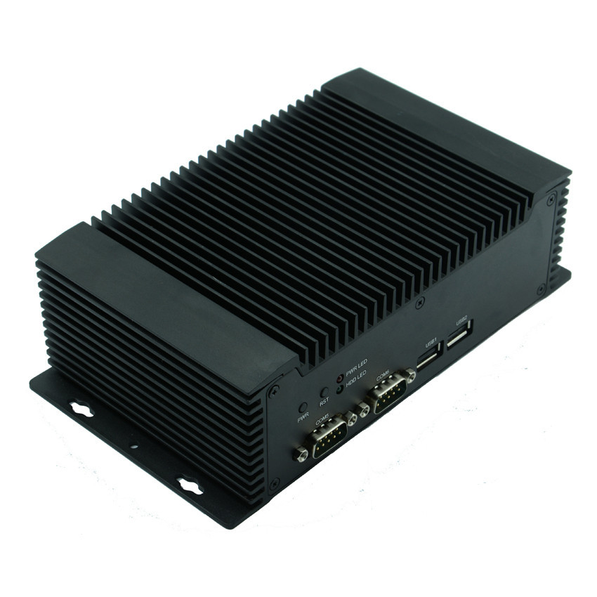 NFN26 Dual Lan Mini Industrial Fanless PC,Dual Lan Mini PC, N2600 Fanless 2 Lan Ports PC