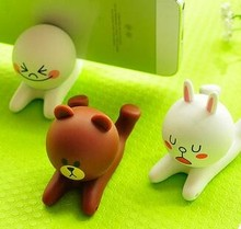 cute animal shape silicone desktop cell phone holder
