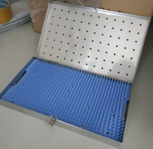 Stainless steel/plastic medical instrument sterilization box