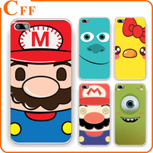 Funny Game Super Mario Clear Crystal Cell Phone Cover For iphone 7 case tpu pc 4 4G 4S 5 5G 5S 5C 6 6S Plus Cover Skin Shell
