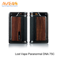 New Trendy Products Electronic Cigarette Bottom Feeder Mod Lost Vape Paranormal DNA 75C Box Mod With 75W Output