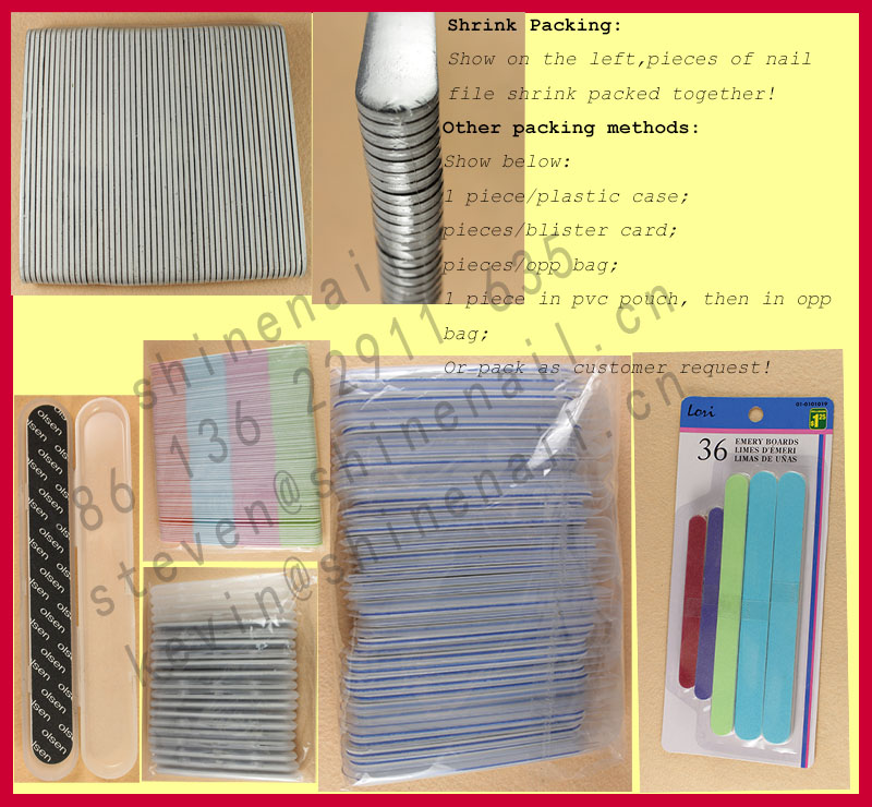 manufacturer supply nail file with plastic case