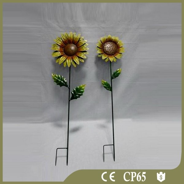 Wholesale metal sunflower garden stakes