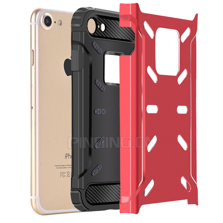 Latest 5G Mobile Phone Shockproof Metal TPU Cell Phone Cover For i Phone7 iPhone 7 Plus Case