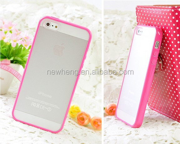 cheap cell phone cover/TPU+PC case for iphone 5