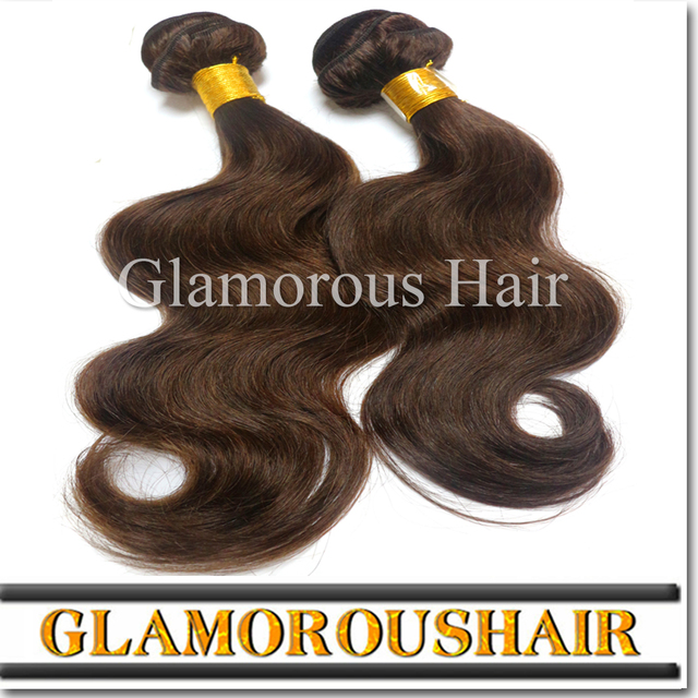 7 grade color 4 brown 100% human weaving virgin peruvian hair/virgin russian hair human hair weaving