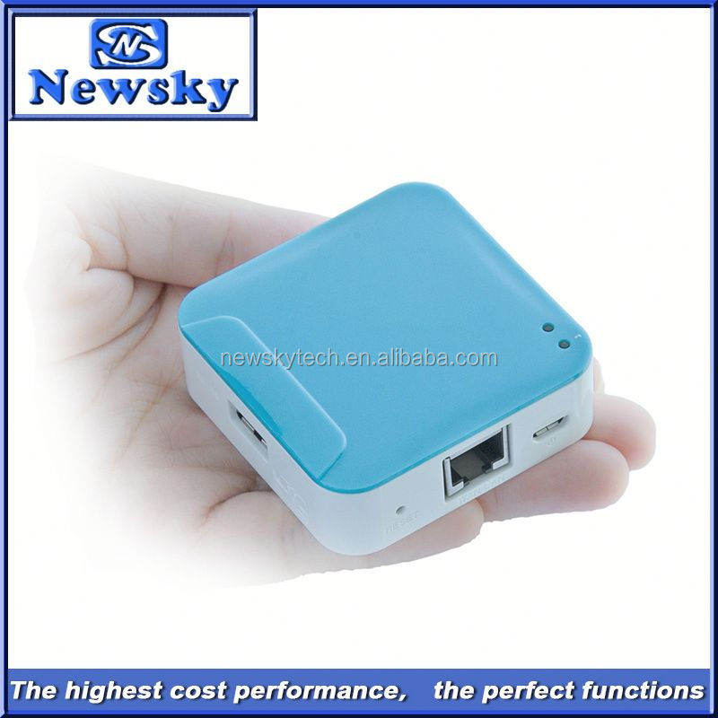 150Mbps hotspot wireless router openwrt with 1800mAH battery inbuilt