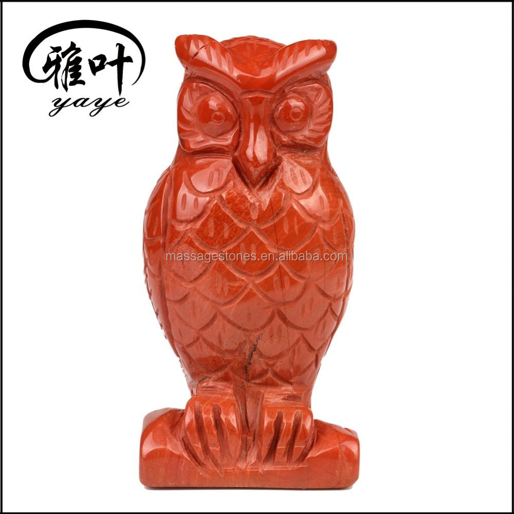 Wholesale Red Jasper Hand Carved Crystal Owl Statues