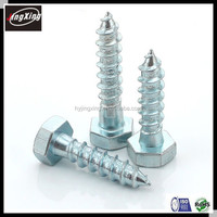 DIN571 hex head self tapping bolt M6 M8 wood bolt