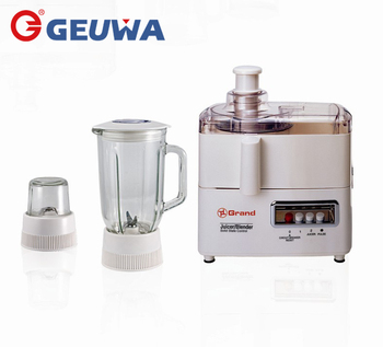 3 in 1 geuwa quality 350w food processor KD-3308A with juicer blender mill attachment