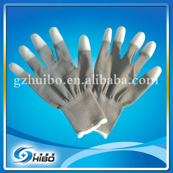 ESD PU Finger Coated ESD Carbon Fiber Work Gloves