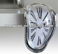 CT-135 Creative seated distorted clock / the melting clock / table angle clock