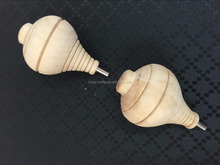 wholesale plain wood spinning top in stock