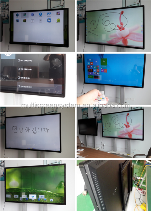 65inch Interactive IR touch screen All In one pc digital signage with wifi