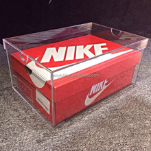Fashionable acrylic nike shoes box,transparent storage box for nike shoes