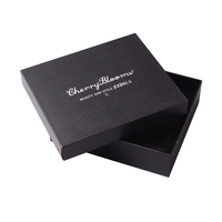 black card paper top and bottom box paper packaging custom logo jewelry box luxury
