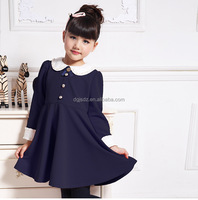 2016 Latest new design children thicken lace winter dress wholesale price