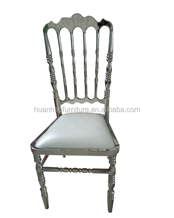 2016 Hotel furniture factory price silver stainless steel banquet chair Y920