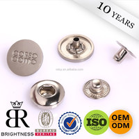 Custom 4 parts alloy metal press snap button metal snap button snap button for jacket