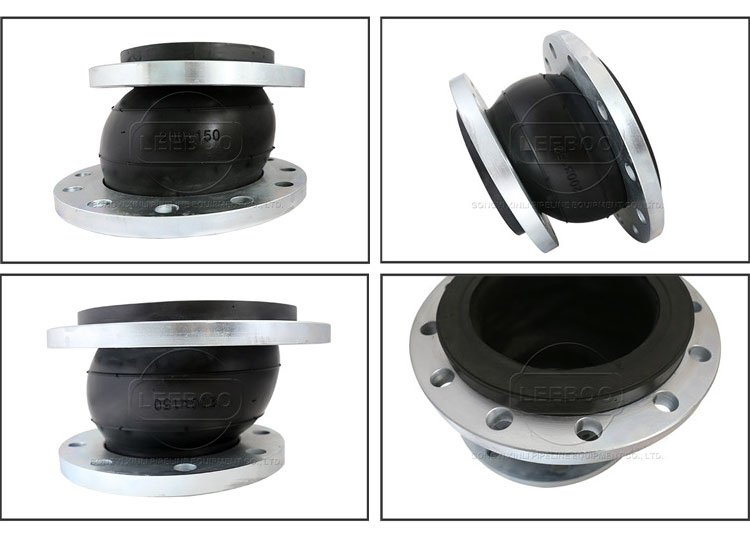 EPDM Rubber eccentric reducer joint for Pipeline misaligned connection