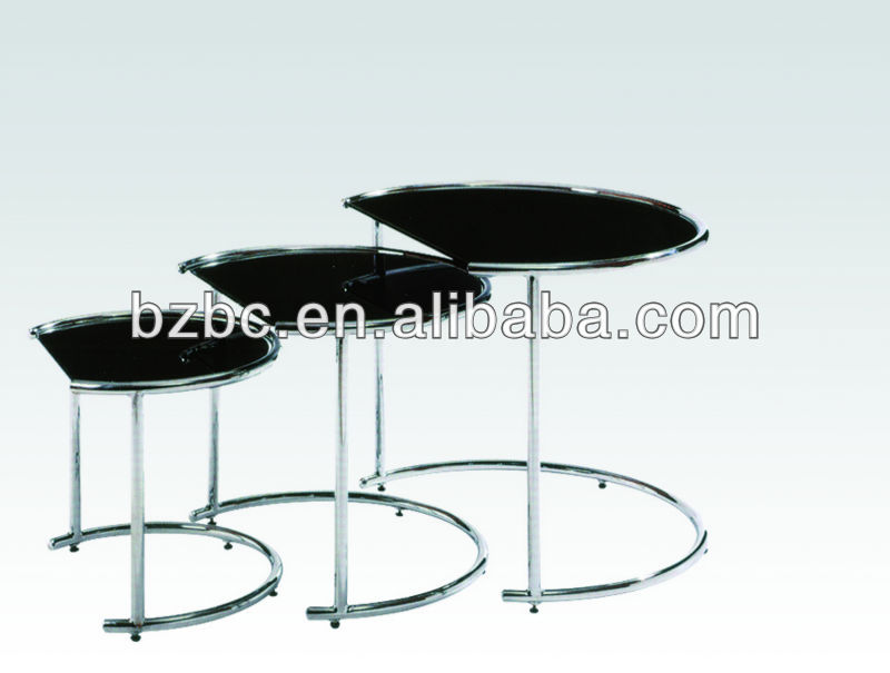 round black tempered glass Living furniture units coffee tables