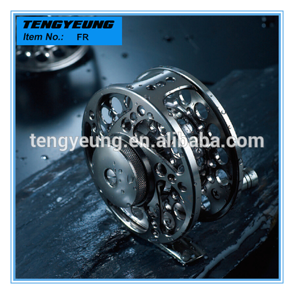 FR High quality CNC machined body and spool fishing cnc machined aluminum fly reel