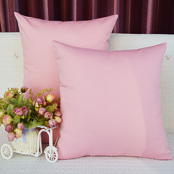 wholesale 100% cotton plain dyed color 18 inches pillow case