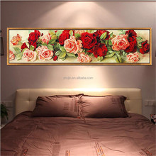 Beautiful rose wholesale price wall decor diy diamond painting flower yiwu