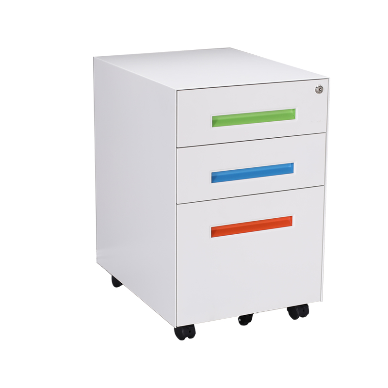 2019 new design steel office equipment desk side mobile cabinet