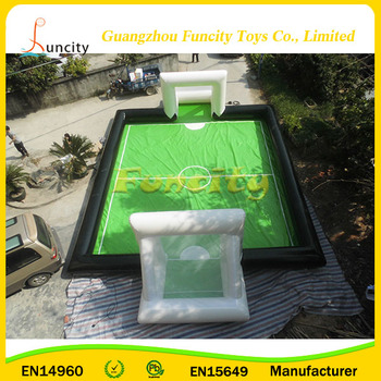 Plato 0.6mm or 0.9mm PVC tarpaulin outdoor activity Sport Game Inflatable Soccer Field