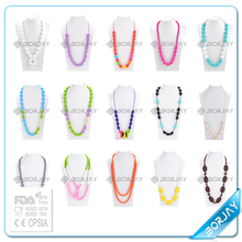 2015 hot selling baby silicone teething teething necklace silicone bpa free supplies