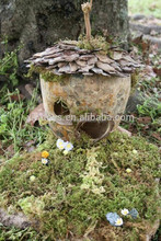 garden fairy supplies pinecone mini house for decoration