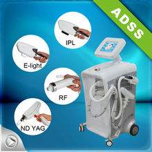 E light + IPL + RF + nd yag laser machine for hair removal wrinkle removal tattoo removal