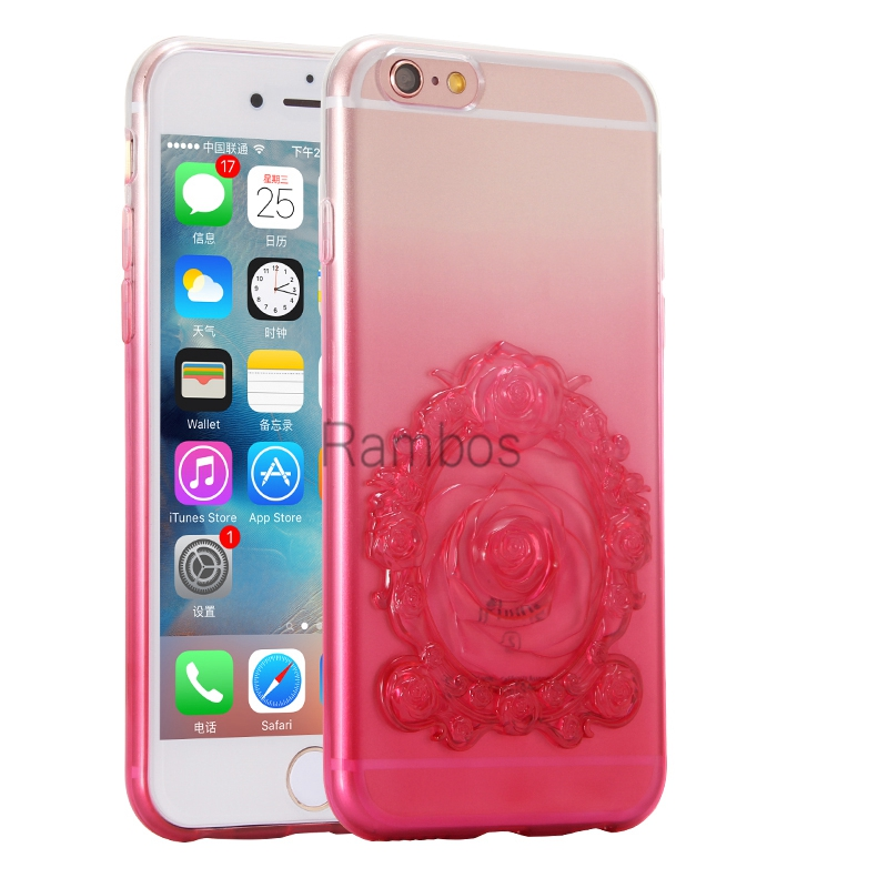Bulk Buy from China 3D Sublimation Case Flower Silicon TPU Mobile Phone Case Cover Skin for iphone 6 6S 6 Plus