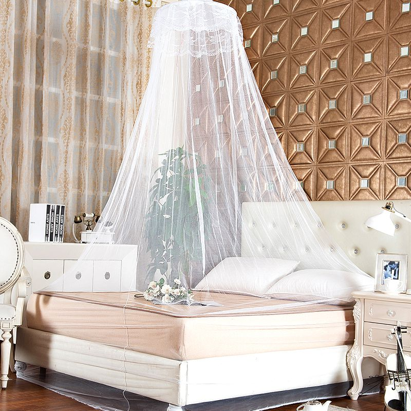 Elegant Classical romantic sweet princess students Outdoor hang dome mosquito nets Round Lace Insect Bed Canopy Netting Curtain