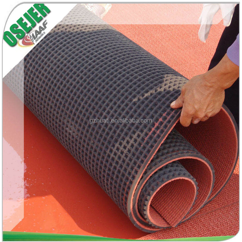 Factory price IAAF prefabricated synthetic rubber running track for sports flooring