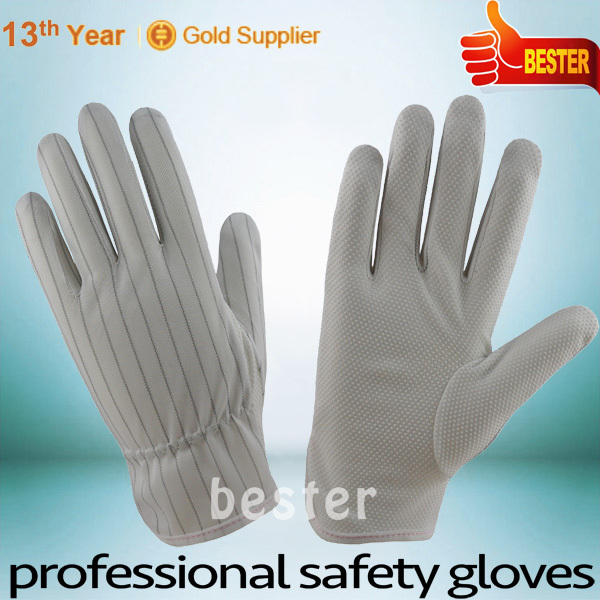 High Performance Pvc Dots Anti-static Work Glove With Carbon Fiber At Great Low Price