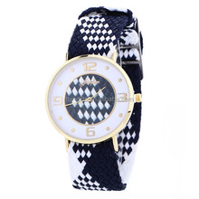 jewelry leather watch chinese women colored print leather watch