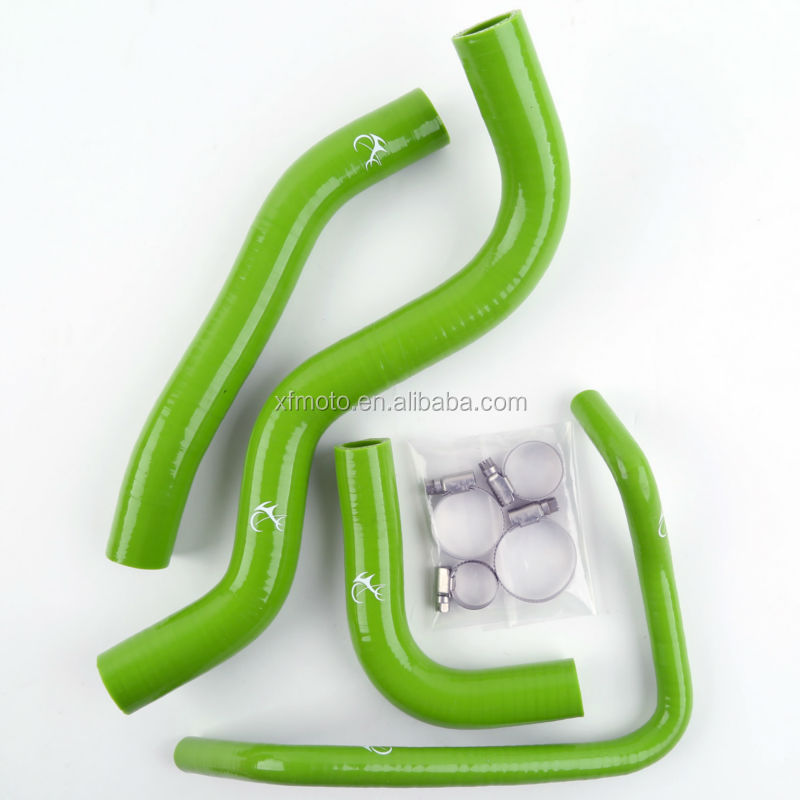 Green Motorcycle Silicone Radiator Hose For Honda CB600F HORNET 03-06