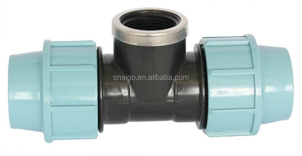 Pp Irrigation Compression Fittings Plastic Pipe End Protection Caps/screw End Cap/cover