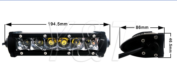 30W LED Alloy Light Bar 4WD Boat UTE Working Camping Lamp UTV