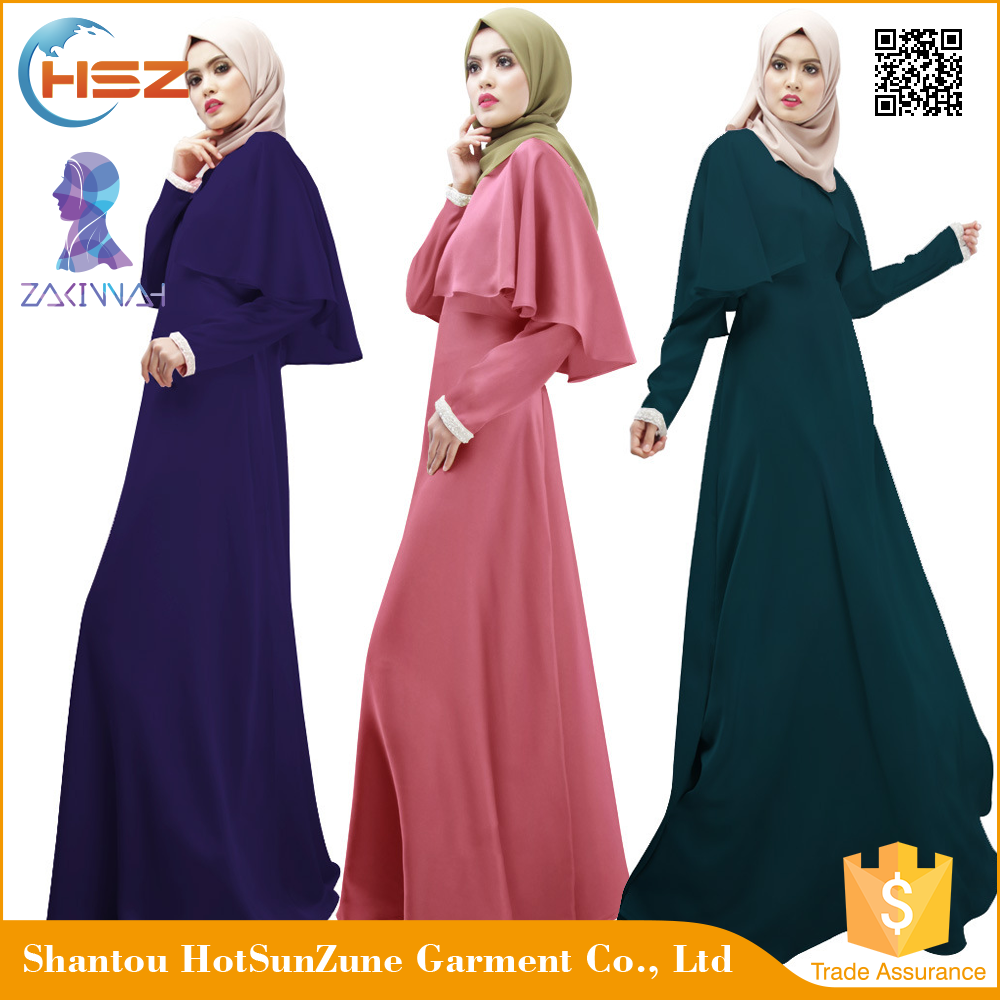 Zakiyyah1023 Elegant Islamic Burqa For Women Arabic Maxi Long Sleeve Dress Designer Bridal Muslim Abaya